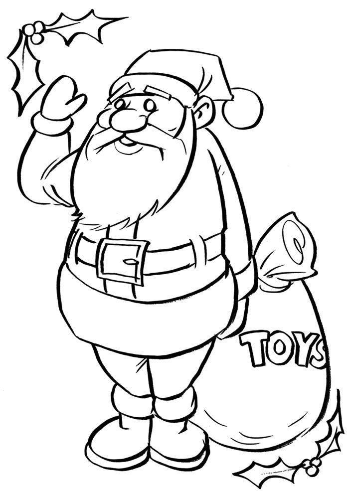 Olaf Kerst Kleurplaat رسم بابا نويل اجمل صور سانتا كلوز