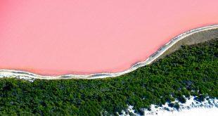 البحيرة الوردية في استراليا سبحان الخالق , غرائب حول العالم
