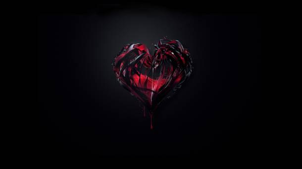 صورة صور قلوب سوداء , اشكال قلوب حزينة باللون الاسود 703 2