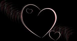 صور قلوب سوداء , اشكال قلوب حزينة باللون الاسود