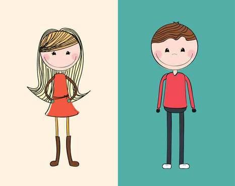 صوره الفرق بين الشباب والبنات , في كل واي شيء