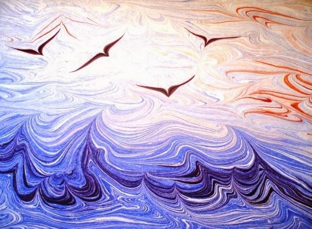صوره الرسم على الماء , فن يتشكل بيد فنان