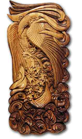 صورة النحت على الخشب , ابداع وفن ودقة لا متناهية