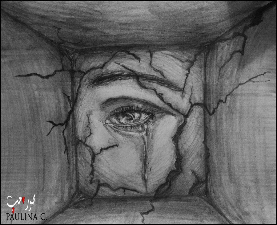صورة اجمل الرسومات الحزينة , تثير عبراتك من الداخل