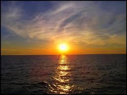 غروب الشمس ذكرني , جمال المنظر