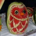 النحت على البطيخ , اشكال رائعة خرافية من فن النحت