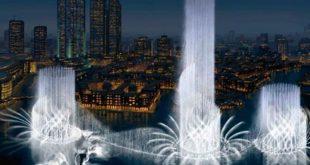 النافورة الراقصة في دبي , اجمل مناظر وحركات النافورة