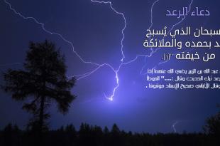 صورة سبحان الذي يسبح الرعد بحمده والملائكة من خيفته , لله في خلقه شؤون