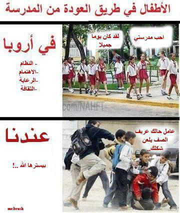 صوره الفرق بين العرب والاجانب , الفرق بين السماء والارض