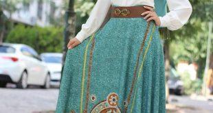 اجمل فساتين محجبات لعيد الفطر والاضحى ولكل الاعياد , مجموعه جديدة من ازياء المحجبات لبس العيد