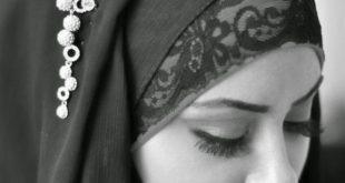 صور فتاة بالابيض و الاسود , بنات بالحجاب تجملت