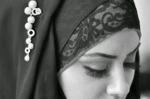 صوره صور فتاة بالابيض و الاسود , بنات بالحجاب تجملت