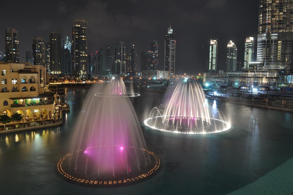 صوره النافورة الراقصة في دبي , اجمل مناظر وحركات النافورة