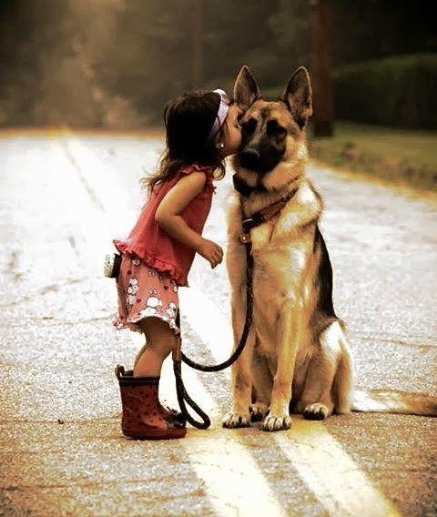 بالصور صور بدون تعليق , اطفال يعشقون الكلاب 10784 3