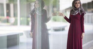 صورة فساتين خروج للمحجبات جديدة 2019 حلوة ناعمة روعة , اشيك فستان محجبة