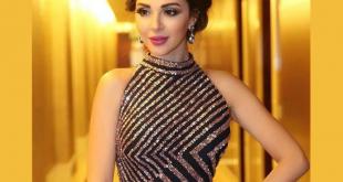 صوره صور احدث ازياء فساتين ميريام فارس 2018 للحفلات للمناسبات , فستان سواريه