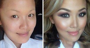 صورة صور مكياج قبل وبعد , التجميل وتاثيره على السيدات