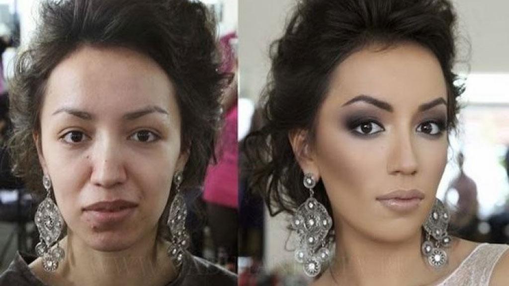 صور صور مكياج قبل وبعد , التجميل وتاثيره على السيدات