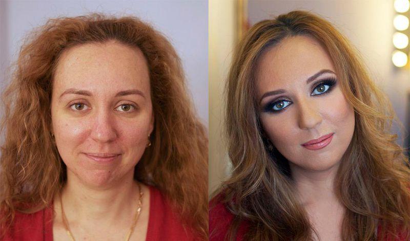بالصور صور مكياج قبل وبعد , التجميل وتاثيره على السيدات 15045 3